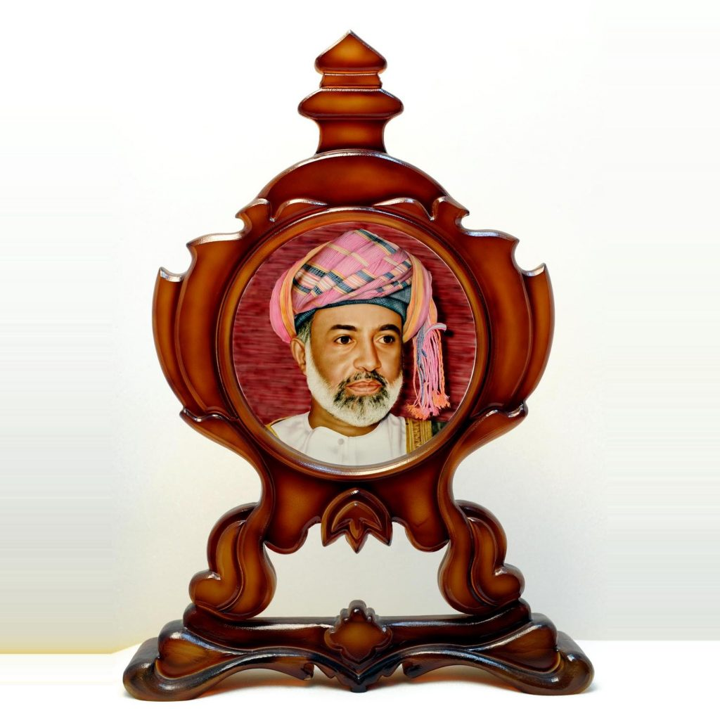 hand painted sultan qaboos