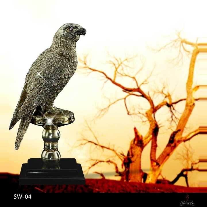 Falcon On Stand with swarovski