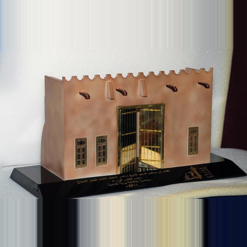Kuwait gate with airbrush and doors and windows in metal