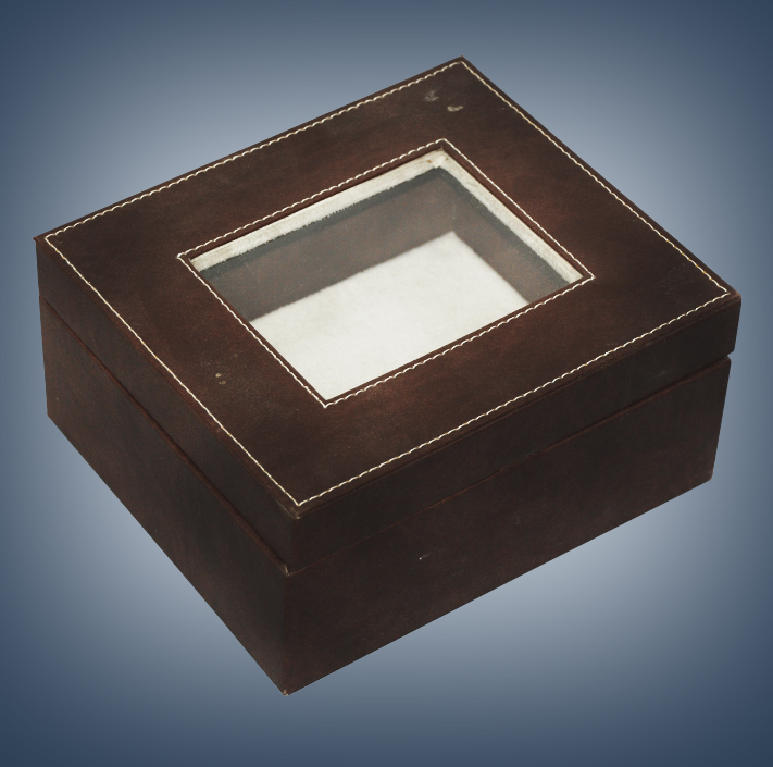 CUSTOIZED VVIP STITCHED BROWN LEATHER BOX