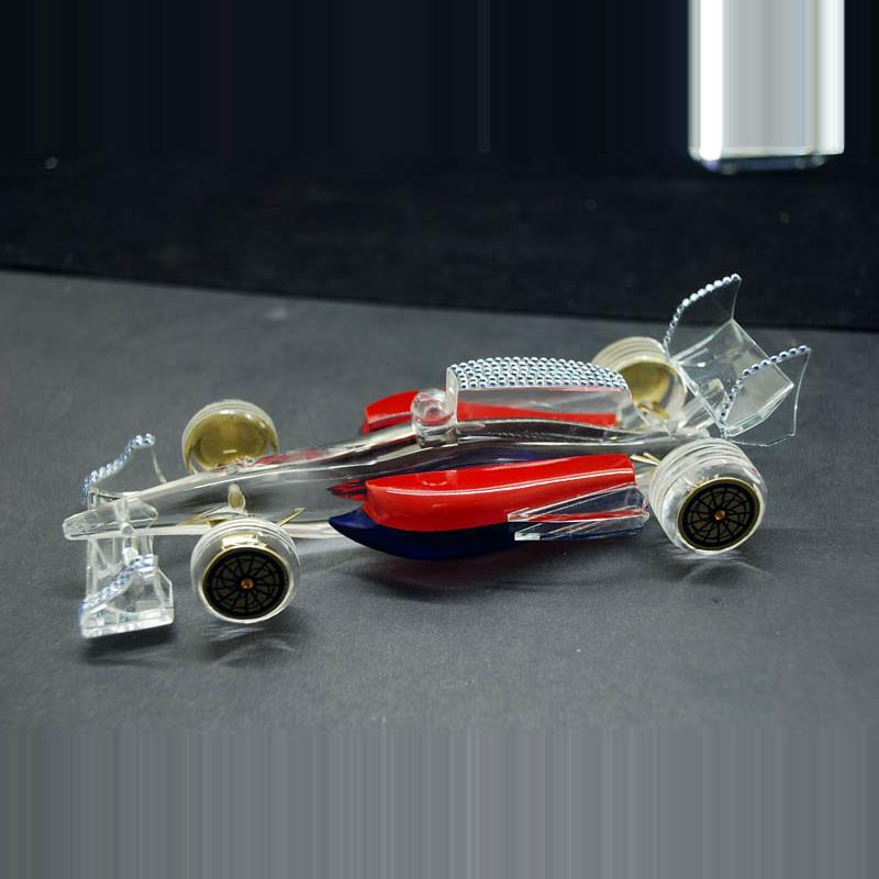f1 car with fused crystal and swaroki combination