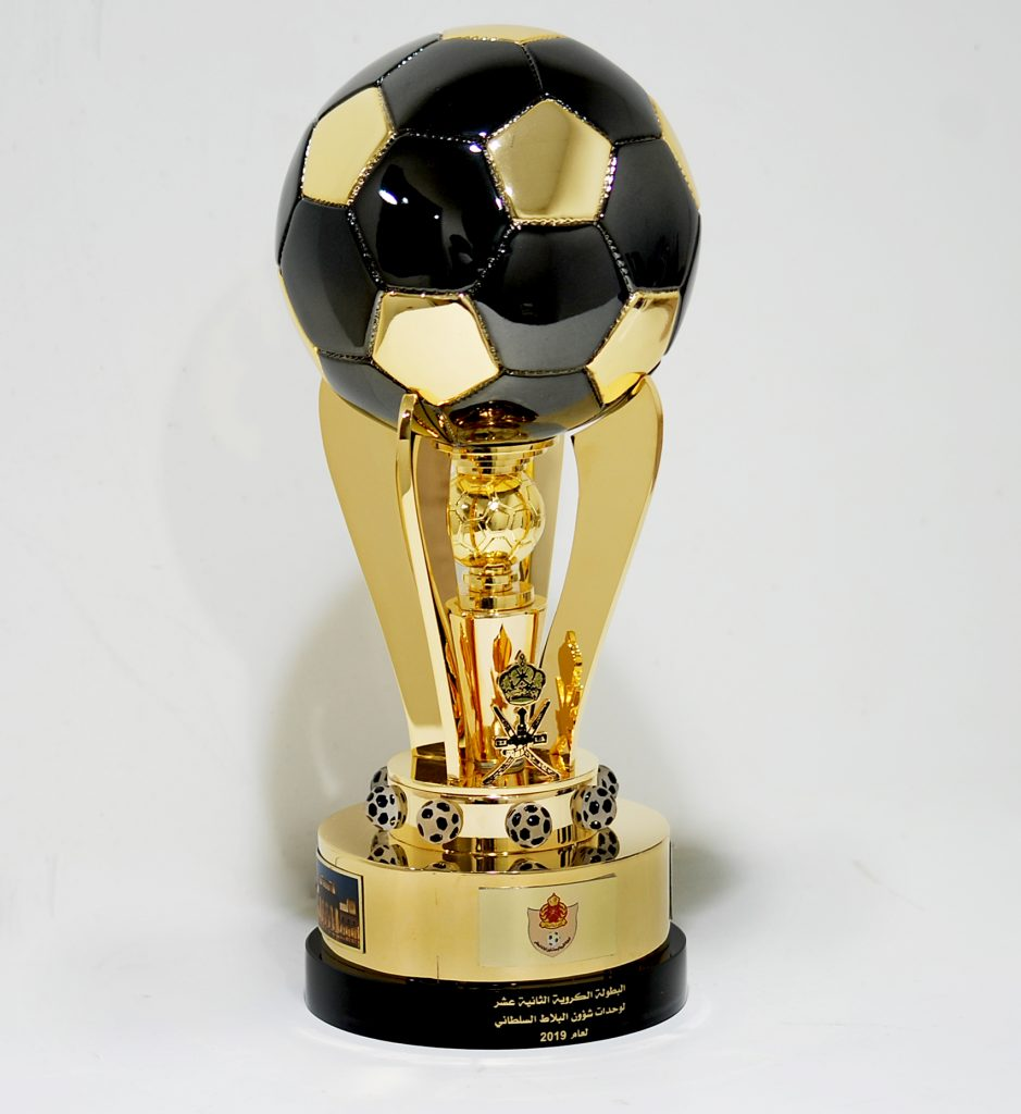 football crystal trophy