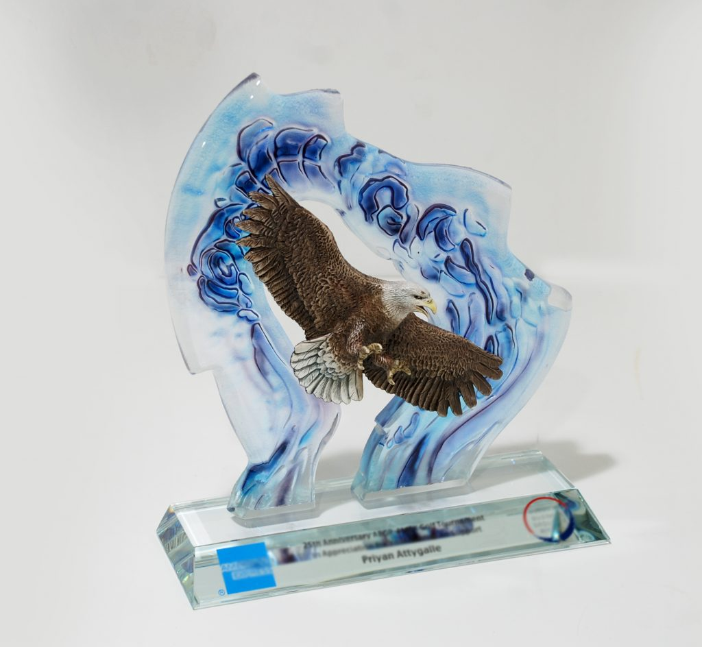 crystal color with eagle